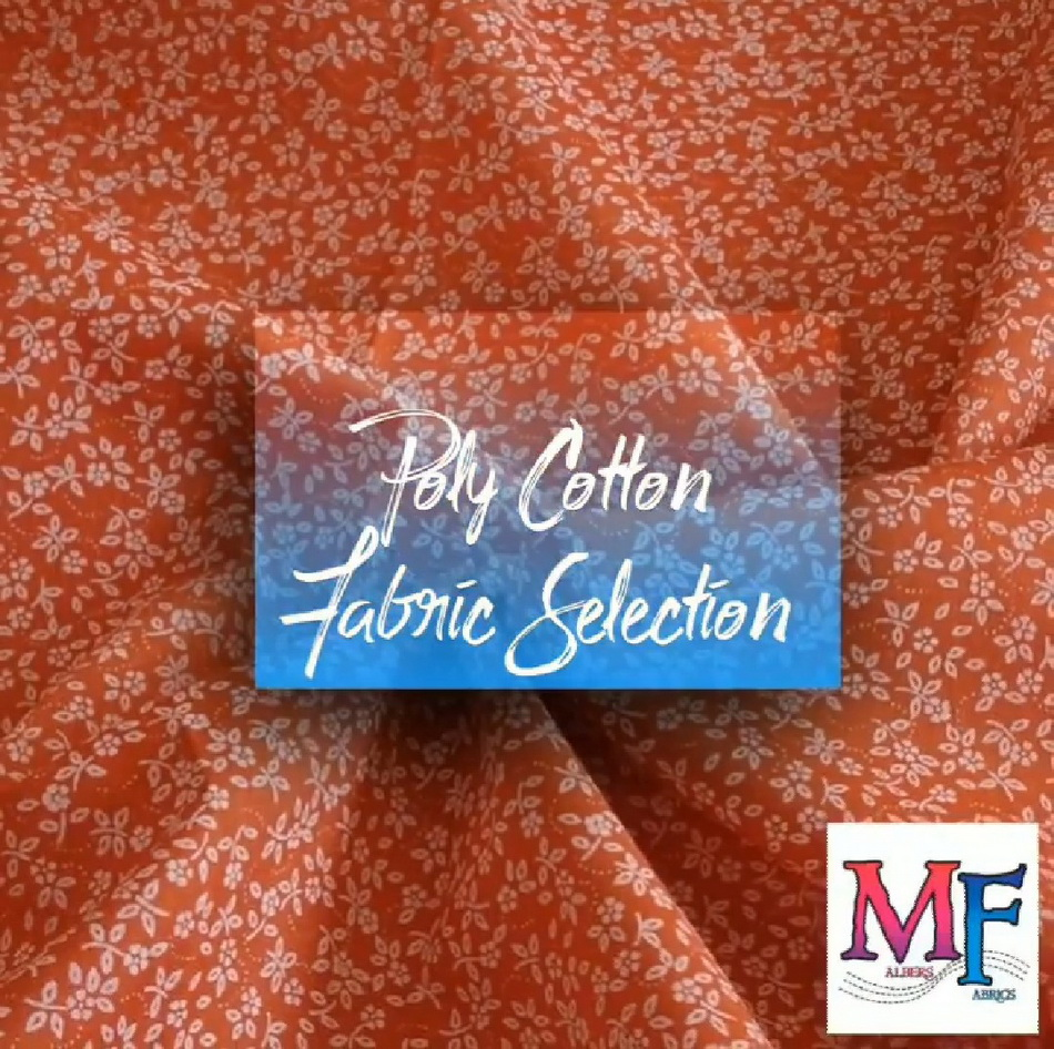 malbers fabrics ploy cotton floral