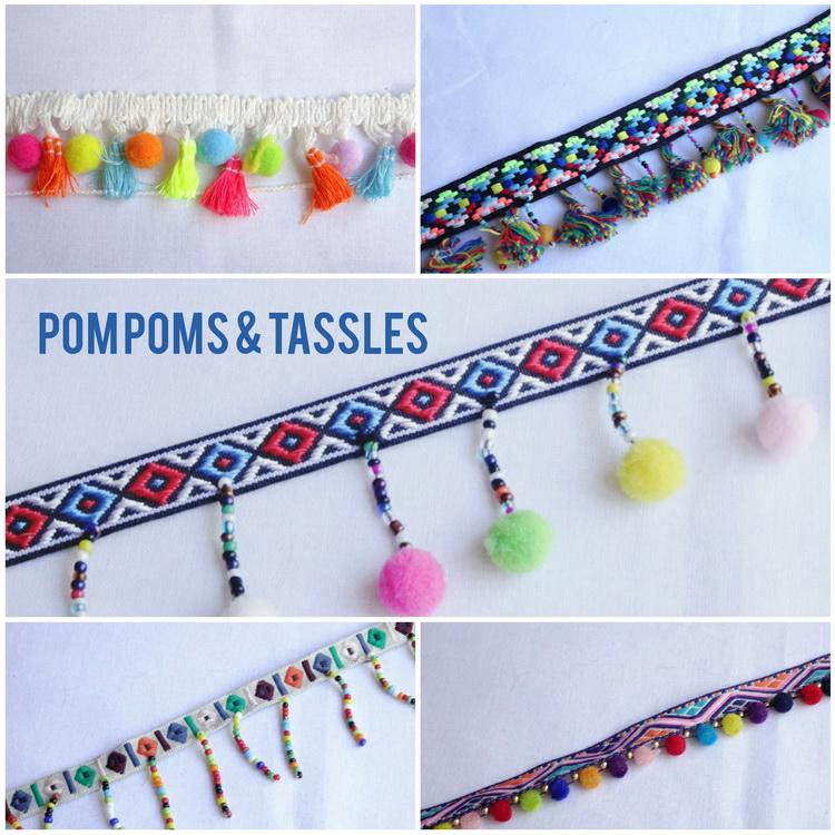 Fluffy Pom Poms & Tassles