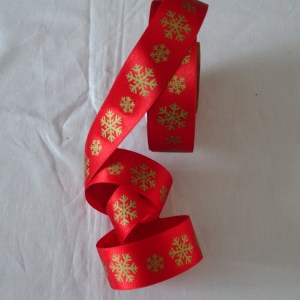 Edged  Ribbon 40 mm wide 1m Length Red and  Green Wired
